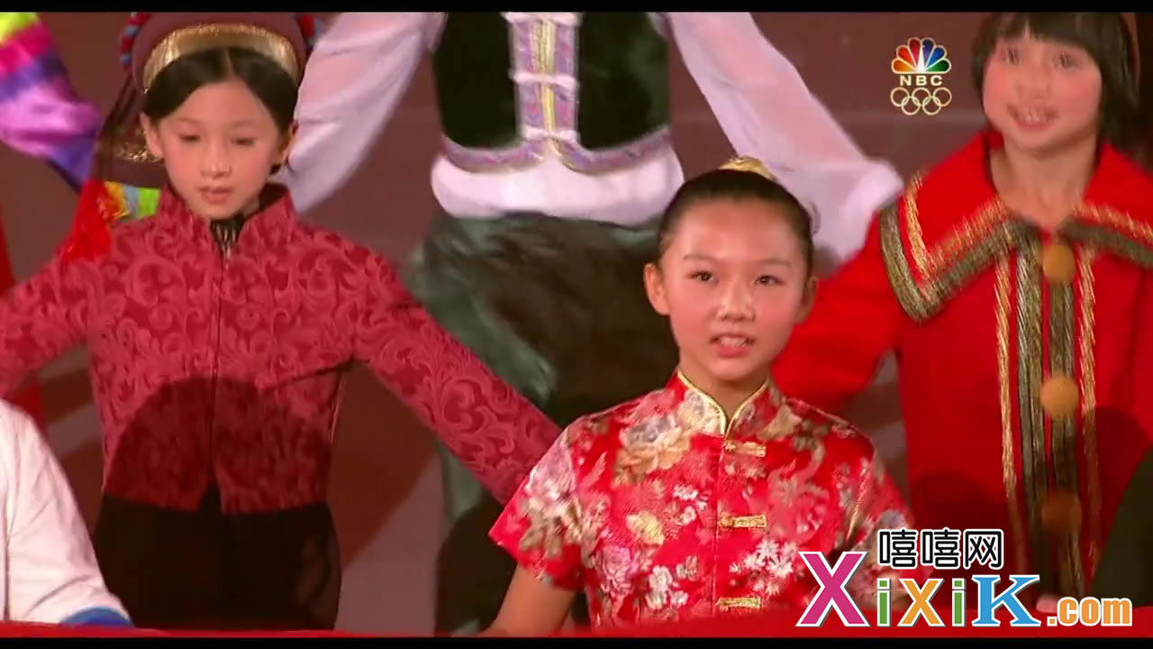 开幕式上的汉族儿童